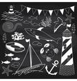 Chalkboard Nautical Set vector image