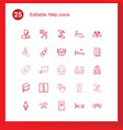 25 help icons vector image vector image