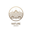 abstract logo mountain landscape vector image vector image
