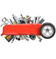Banner with Car Spares vector image vector image