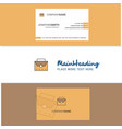 beautiful breifcase logo and business card vector image