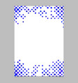 blue circle pattern page template - design from vector image vector image