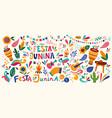 brazil holiday festa junina vector image