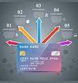 business card - paper infographic vector image vector image
