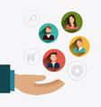 Business teamwork design vector image