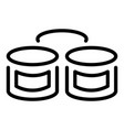 canned sea food icon outline style vector image