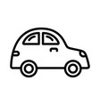 car icon on white background vector image vector image