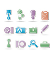 car parts and services vector image vector image
