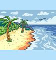 cartoon beach background vector image