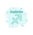 cartoon sagittarius zodiac icon in comic style vector image vector image