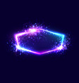 celebration colorful neon light frame with star vector image vector image