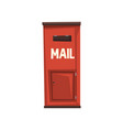 city hanging postbox for sending letters bright vector image