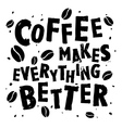 Coffee retro quote vector image