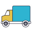 color sections silhouette of truck with wagon vector image vector image
