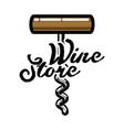 color vintage wine store emblem vector image vector image