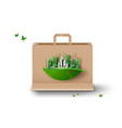 concept ecology and environment vector image