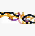 curly lines abstract background color overlapping vector image vector image