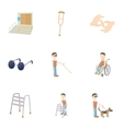 Disabled icons set cartoon style vector image vector image