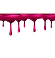 dripping seamless red cherry dripps liquid drop vector image