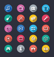 entertainment simple color icons vector image