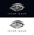 eye vision logotype vector image vector image