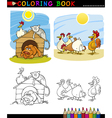 Farm and Companion Animals for Coloring vector image vector image