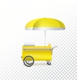 Fast food cart street shop vector image