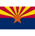 flag arizona in correct proportions and colors vector image vector image