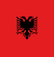 flag of albania official colors and proportions vector image