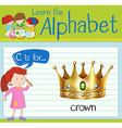 Flashcard letter C is for crown vector image vector image