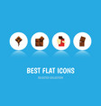 flat icon cacao set of shaped box delicious vector image vector image