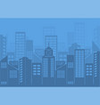 flat night urban cityscape on blue background vector image