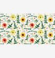 flower floral seamless pattern design orange red vector image