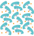 funny blue whales group reaching for the stars vector image