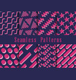 geometric seamless pattern set geometric figures vector image vector image