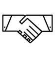 handshake line icon symbol vector image vector image