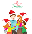 Happy Family Hugging Together vector image vector image