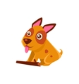 Happy Puppy Brought A Stick vector image vector image