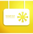 holiday yellow sun applique background vector image vector image
