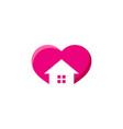 house love logo icon design vector image