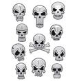 Human Halloween skulls set vector image vector image