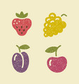 icons berries in retro style vector image