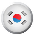 isolated flag of south korea vector image