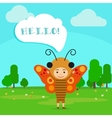 Kid in butterfly insect dress vector image vector image