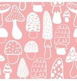 Kids and baby modern mushroom seamless pattern vector image vector image