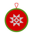 knitted christmas decoration star vector image vector image