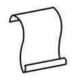 line sheet paper document note design vector image