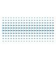 logout shape halftone grid vector image vector image