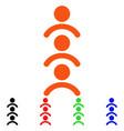 man queue icon vector image