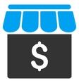 Market Flat Icon vector image